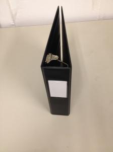 """2"""" Black D Ring TABS Brand Binder.  W/ Label Holder"""