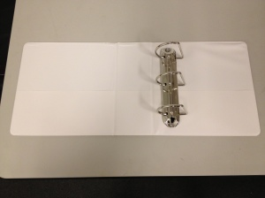 "3"" White Mini Book (8.5 x 5.5) D Ring TABS Brand Binder"
